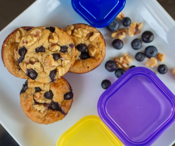 Blueberry oatmeal blender muffins recipe
