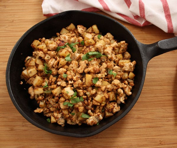 Healthier turkey hash recipe