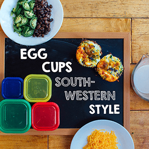 Ingredients for Egg cups south-western style for a meal prep breakfast recipe