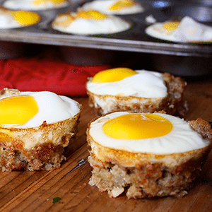 Turkey and stuffing Egg cups recipe