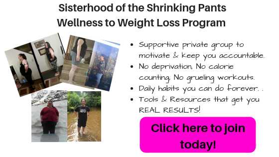 Before and after transformations of real people getting real results in the Sisterhood of the Shrinking Pants Wellness to weight loss program Click here to join today!
