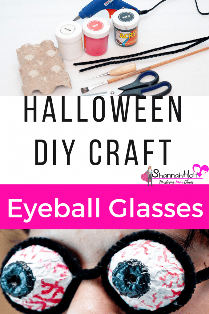 Our whole family loved doing this Halloween DIY Craft project. We had a lot of fun designing our own unique Eyeball Glasses.