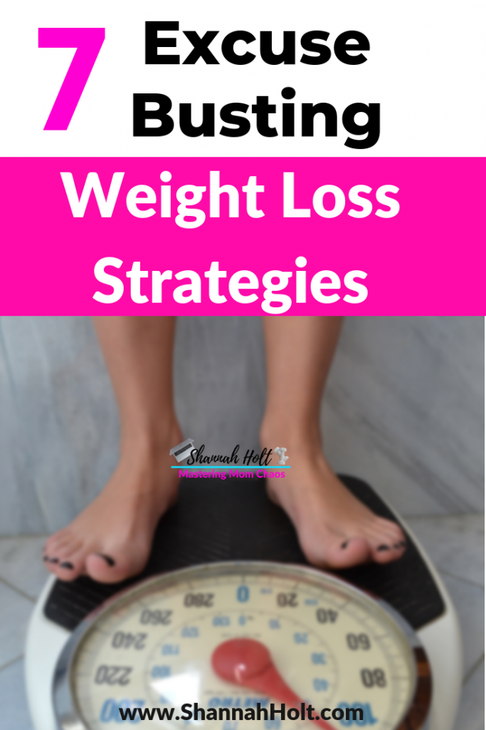 Woman standing on a scale after using these 7 Excuse busting weight loss strategies!