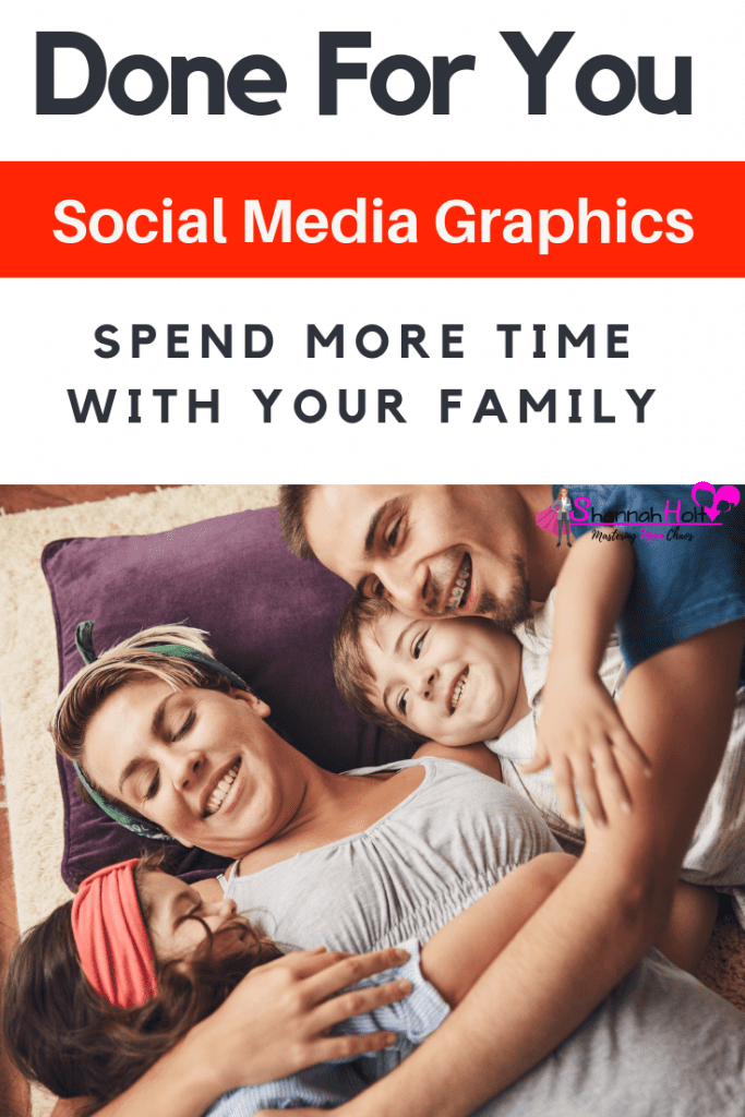 A happy family spending time together because she is using my done for you social media graphics instead of the hours it takes to do them herself.
