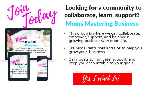 Join Moms Mastering Business Community to network with other moms daily.