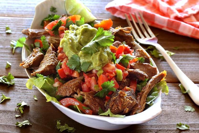 Crockpot Green Chili Pork With Cilatro Lime Cauliflower Rice a Heathy Meal Planning Recipe