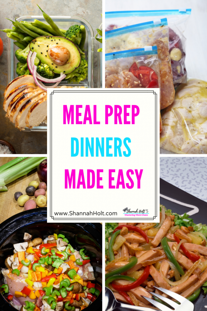 An array of dinners that healthy meal planning makes Meal Prep dinners easy!